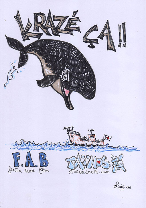 BALEINE KRAZE CA TAINOS GUADELOUPE ARTWORK OLIVIE
