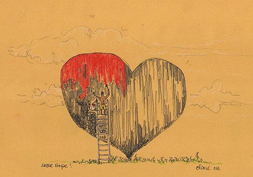 LOVE HOPE TAINOS GUADELOUPE ARTWORK OLIVIE