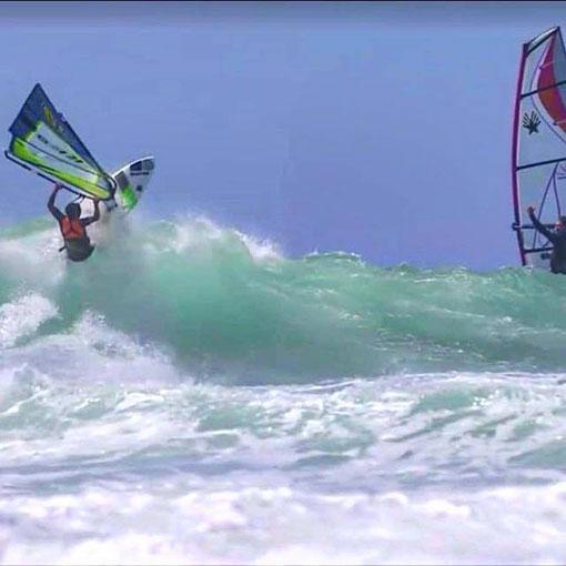 mateo levillain tainos guadeloupe windsurf wave riding school